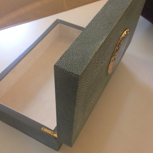 Image of Cerulean Shagreen Box