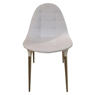 Cassina Caprice White Faux Leather & Nylon Chair
