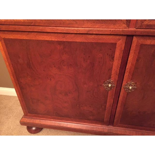 Baker Furniture Burl Wood China Cabinet - Image 3 of 4