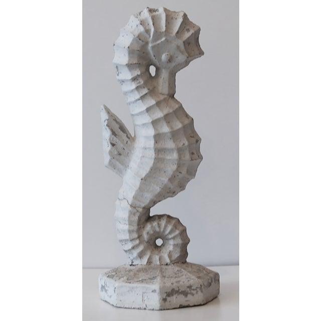 Mid-Century Concrete Seahorse - Image 4 of 5