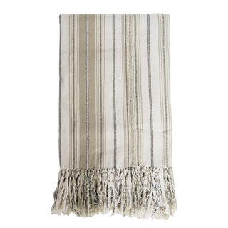 Guatemalan Tan Striped Blanket