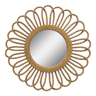 Large Scale Rope Sunburst Style Mirror