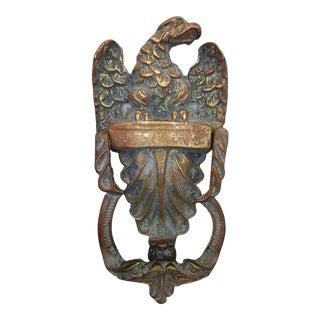 Vintage Bronze Eagle Door Knocker