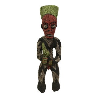 African Tribal Bamileke Beaded Statue
