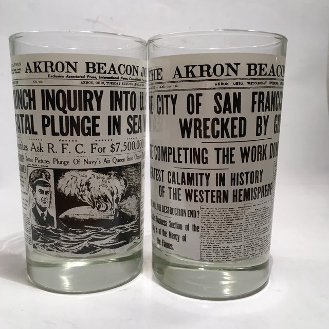 Libbey Newspaper Headline Tumblers - Set of 6 - Image 5 of 6