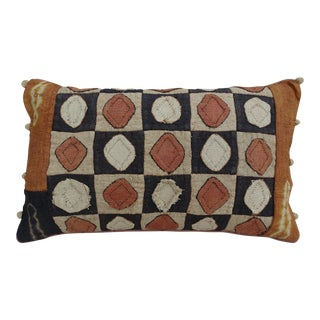 African Checkerboard Pattern Cloth Kuba Pillow