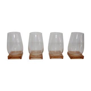 Blush Square Base Glassware - Set of 4