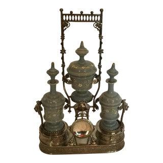 Ornate Victorian Silverplate Vanity Set