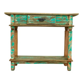"Reclaimed Solid Wood ""Beach House"" Style Console Table"