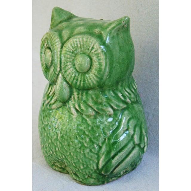 Mid-Century Italian Green Terracotta Owl - Image 3 of 9
