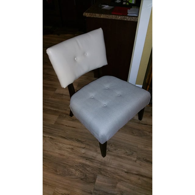 Large Accent Chair, Grey and White Seat - Image 2 of 4