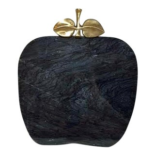 Vintage Black Marble Serving Tray