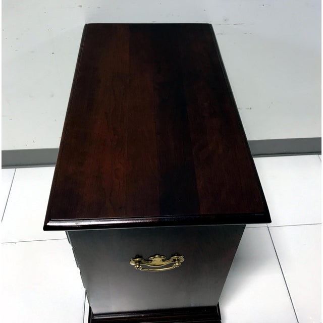 JF Delwood Solid Cherry Chippendale Chairside Chest - Image 8 of 11