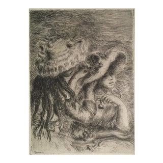 'Le Chapeau Epingle' Renoir's Original Etching