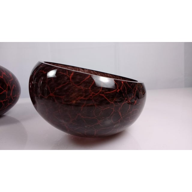 MGlass Slanted Vase & Matching Bowl - A Pair - Image 9 of 11