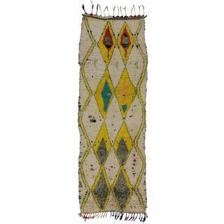 "Vintage Berber Moroccan Tribal Design Runner - 3'3"" x 9'1"""