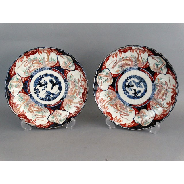 Japanese Porcelain Imari Chargers - A Pair - Image 3 of 9