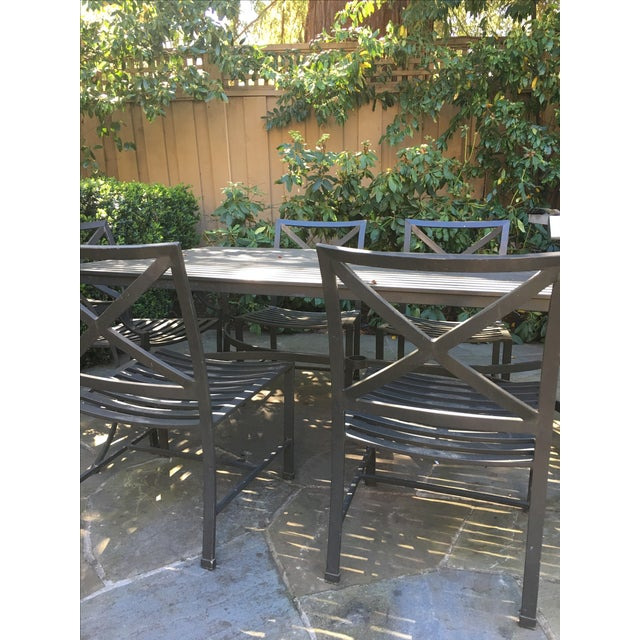 restoration hardware outdoor dining table chairs chairish