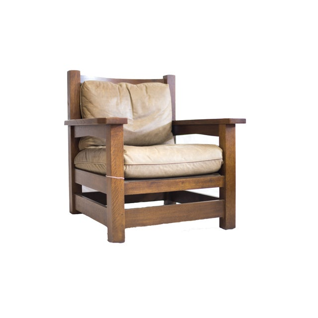 Stickley Co. Eastwood Chair And Ottoman - Image 3 of 10