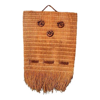 Native American Woven Bag Wall Hanging