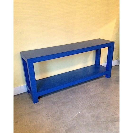 Funky Retro Blue Console Table