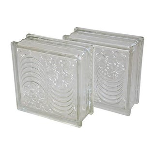 Mid-Century Architectural Glass Blocks - a Pair