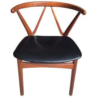 Henning Kjaernulf Bruno Hansen Wishbone Style Teak Chair