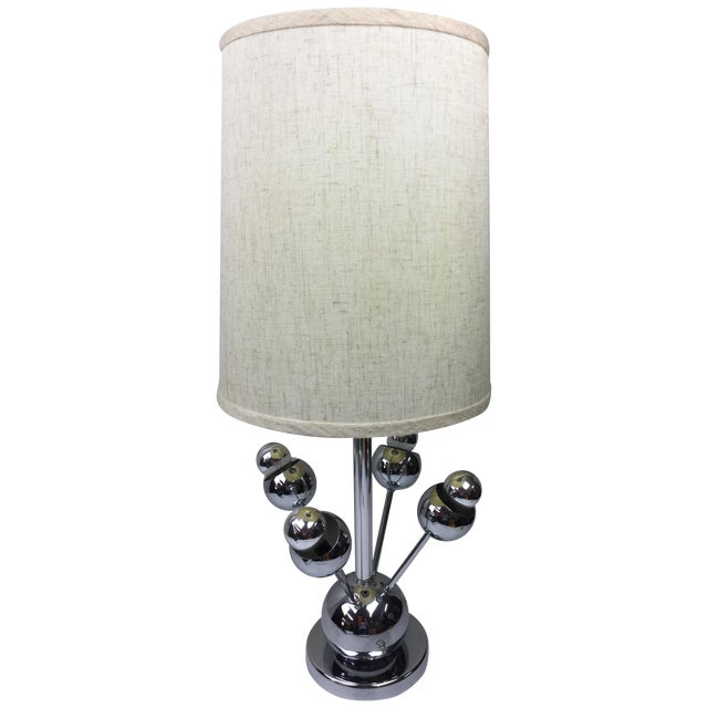 Atomic Chrome Table Lamp - Image 1 of 6