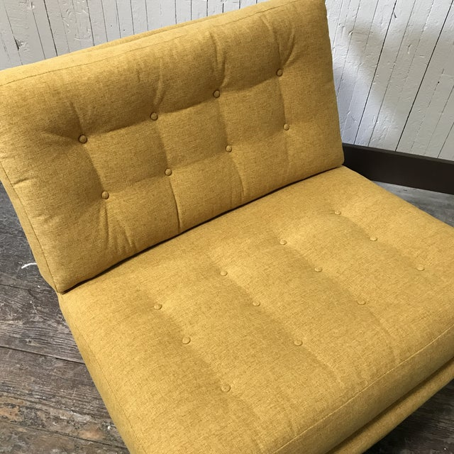 Mid-Century Modern Sled Base Lounge Chairs - A Pair - Image 10 of 11