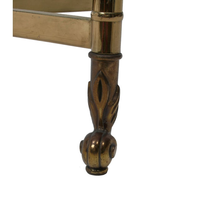 Decorative French Glass & Brass Table - Image 10 of 10