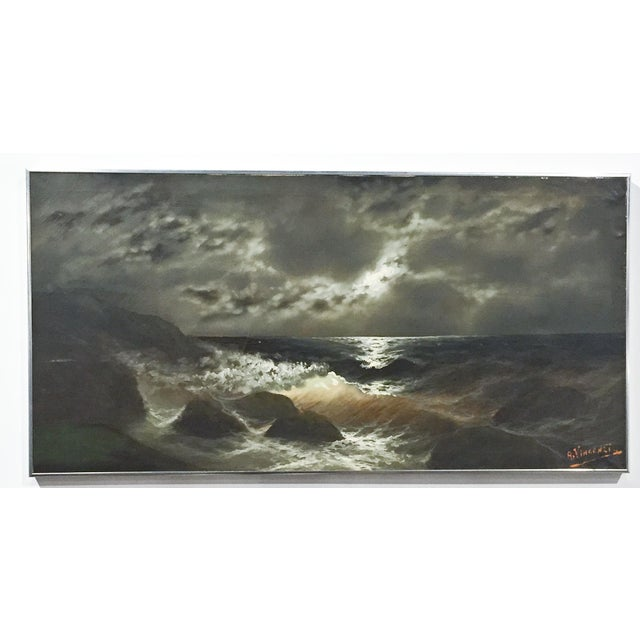 """Image of """"Ocean Storm"""" Painting by A. Vincenzi"""