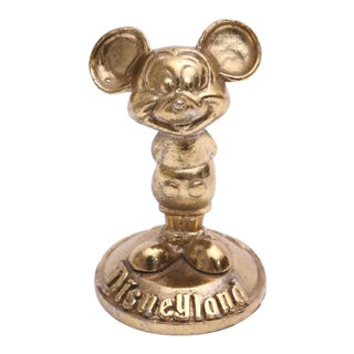 Brass Mickey Mouse Sculpture Disneyland