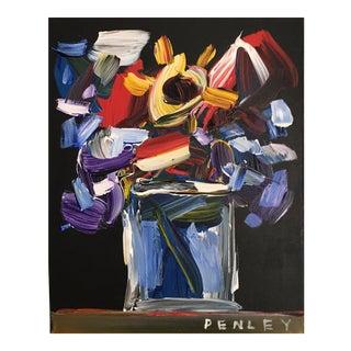 """Original Painting of Steve Penley """"Flowers"""""""