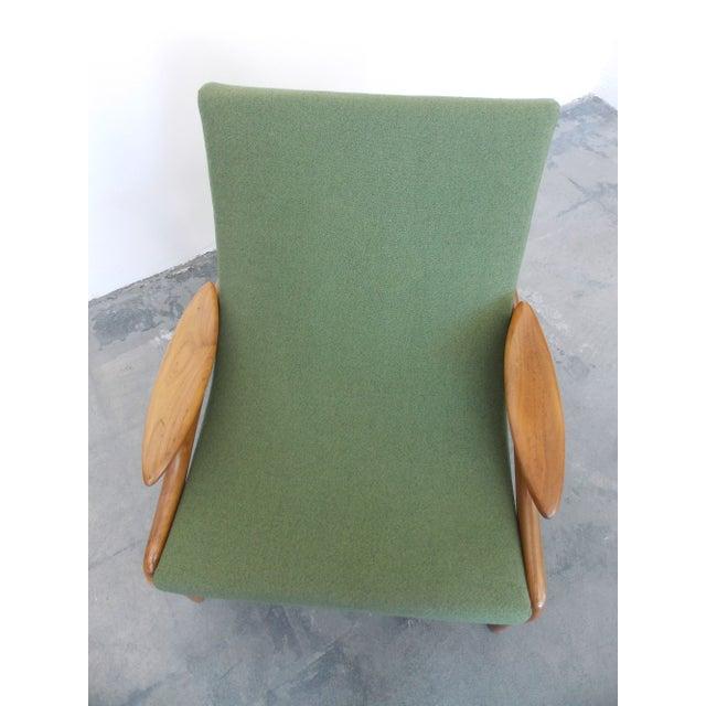 Italian Wood Sling Lounger - Image 9 of 9