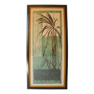Mid-Century Botanical Woodcut Print