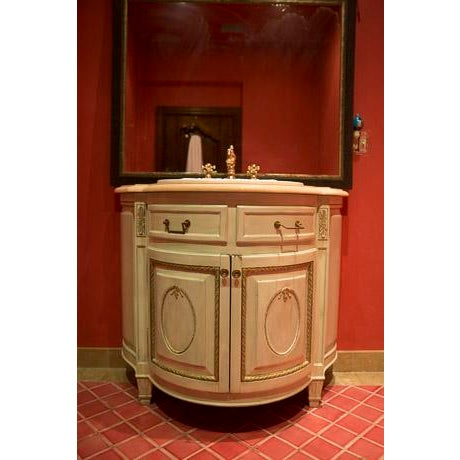 French country bathroom sink vanity chairish - Country french bathroom vanities ...