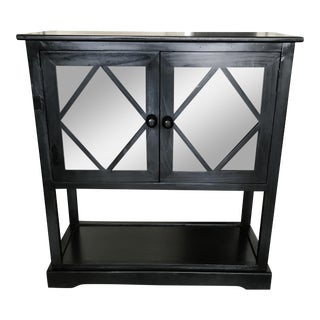 Black Contemporary Entryway Cabinet