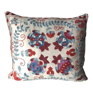 Vintage Suzani Embroidered Large Pillow