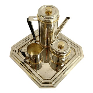 Art Deco Styled Silver Plate Tea Set
