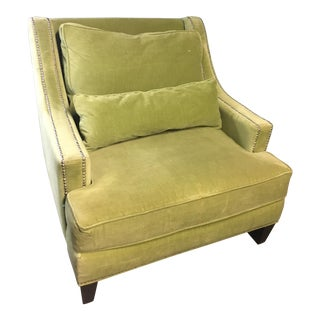 Pierre Upholstered Green Club Chair