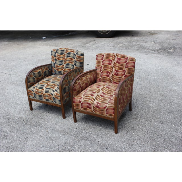 French Art Deco Sold Mahogany Speed Armchairs - A Pair - Image 9 of 11