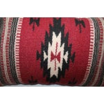 Image of Pair of Geometric Indian Weaving Fringed Pillows