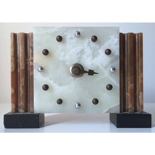 Antique French Art Deco Onyx Clock - Image 6 of 6
