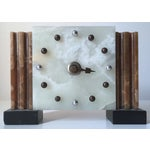 Image of Antique French Art Deco Onyx Clock
