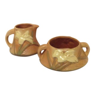 Roseville Pottery Cream and Sugar - Set of 2