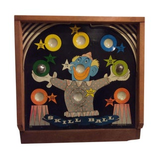 """1940's Painted """"Skill Ball Game"""""""