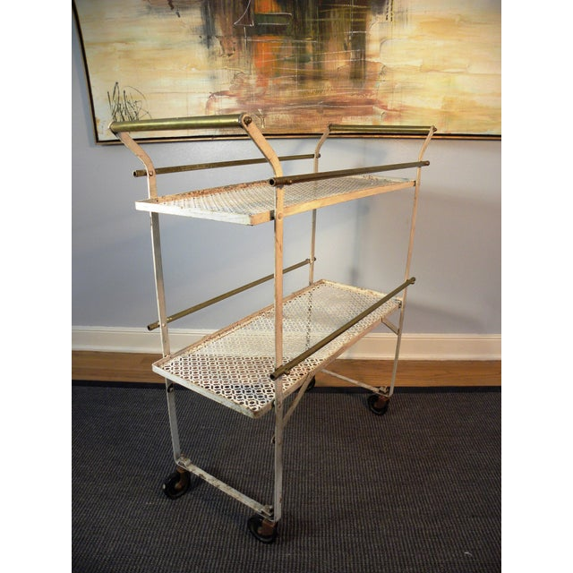 Vintage Mid-Century Folding Bar Cart - Image 3 of 6