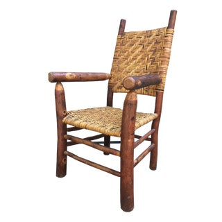 Vintage Rustic Hickory Chair, 1940s