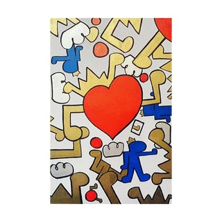 """Stop! In the Name of Love Ii"" Keith Haring-Inspired Painting"