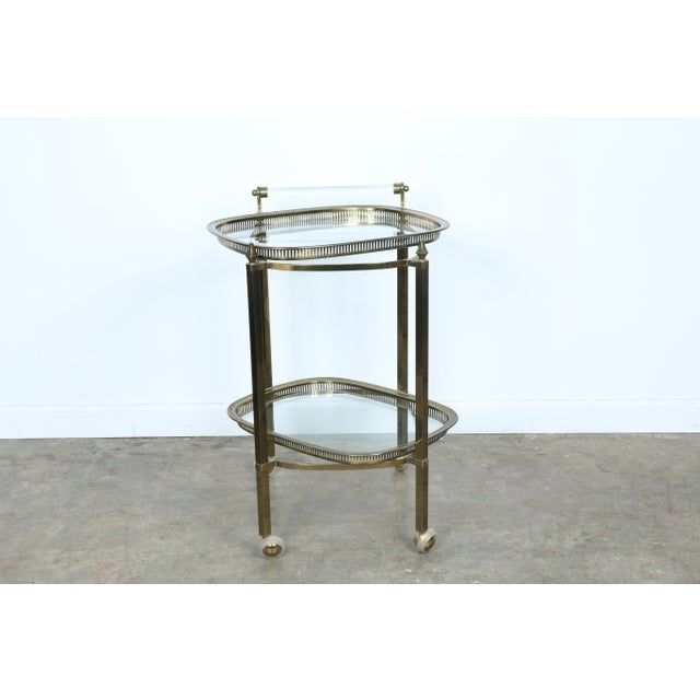 Mid-Century Gold-Tone Bar Cart - Image 11 of 11